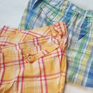 2 pairs GUC plaid shorts size 12